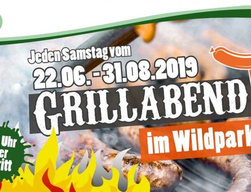 Grillabend im Wildpark Müden vom 22.06. bis 31.08.2019