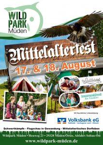 Mittelalterfest im Wildpark Müden 2019 Poster