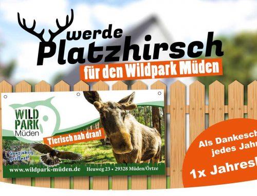 Werben für den Wildpark Müden