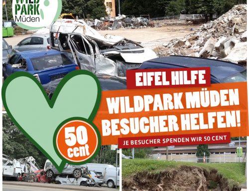 Eifel-Hilfsaktion vom Wildpark Müden